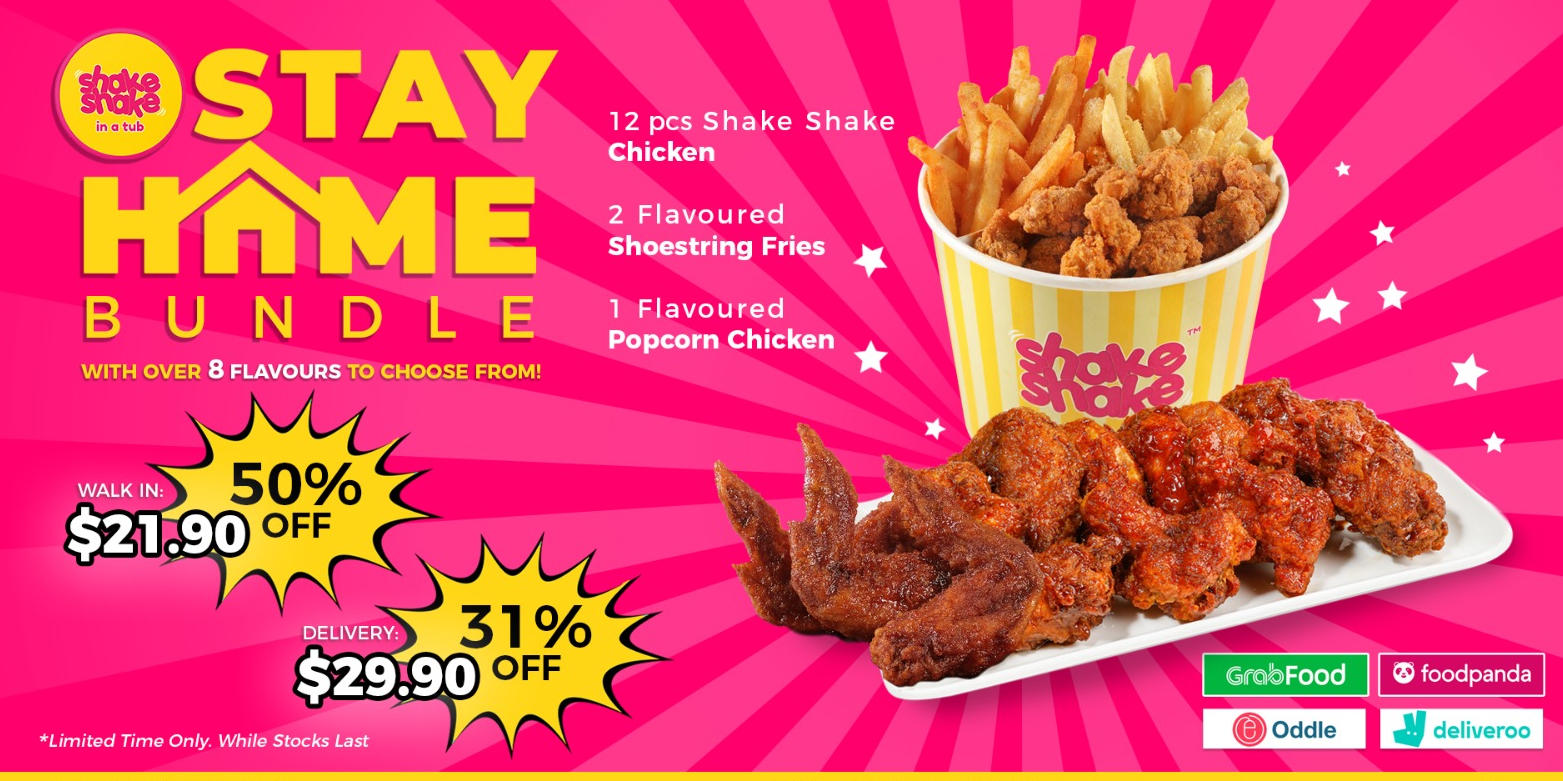 Stay Home, Stay Safe and enjoy 50% OFF Shake Shake In A Tub!