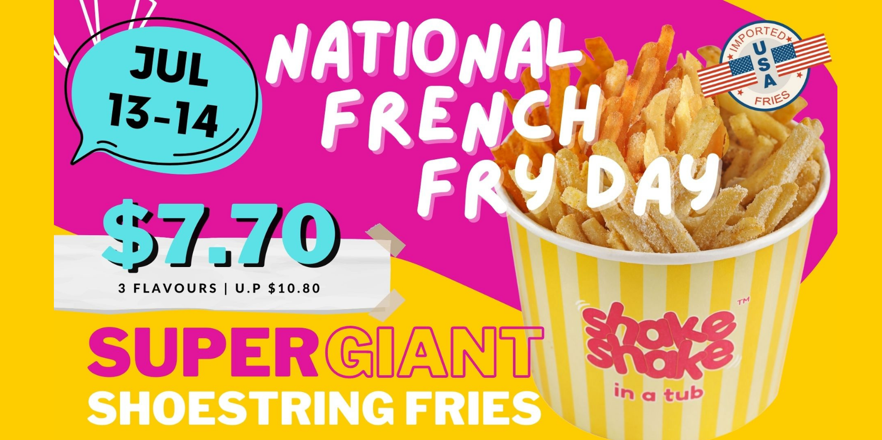 It's a French Fries Frenzy with Shake Shake In A Tub this National French Fry Day!