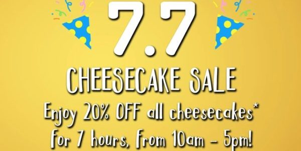 Cat & the Fiddle Singapore 20% Off Cheesecakes 7.7 Promotion only on 7 Jul 2021