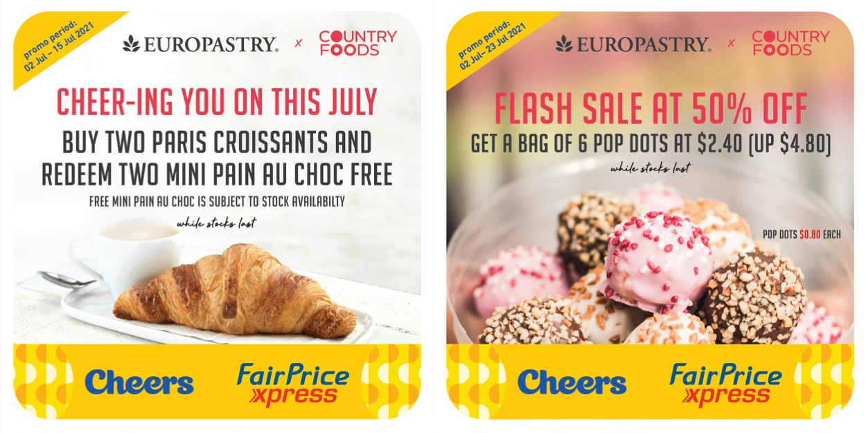 4 exciting deals with Europastry x Country Foods this July!