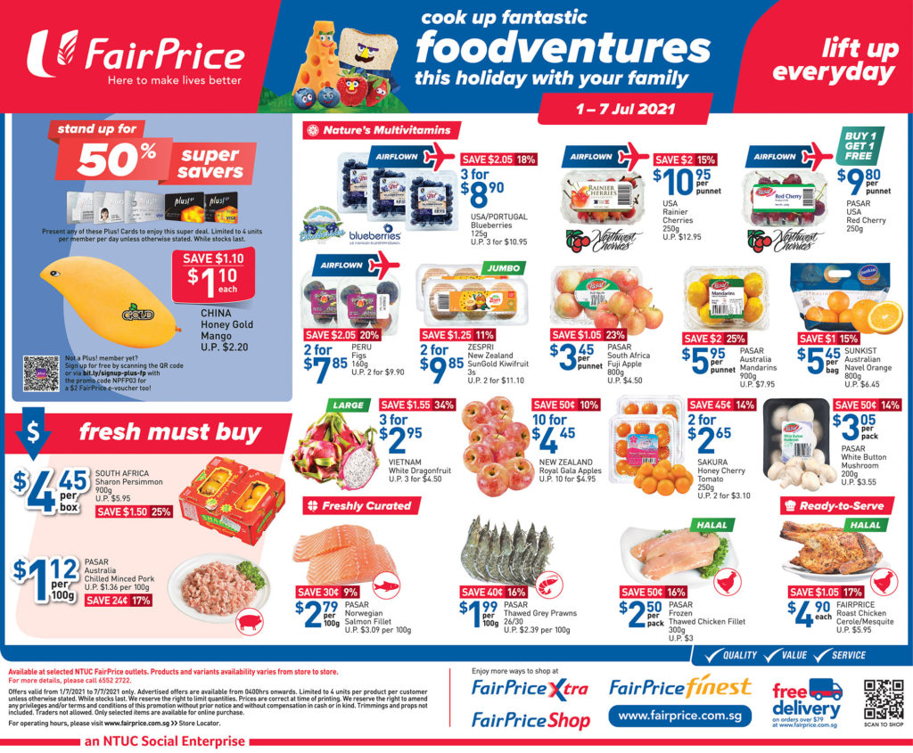 NTUC FairPrice Singapore Your Weekly Saver Promotions 1-7 Jul 2021   Why Not Deals 9