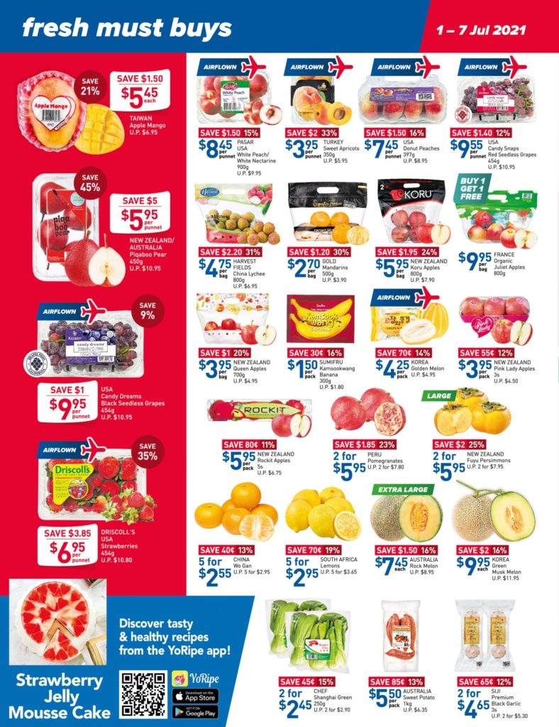 NTUC FairPrice Singapore Your Weekly Saver Promotions 1-7 Jul 2021   Why Not Deals 10