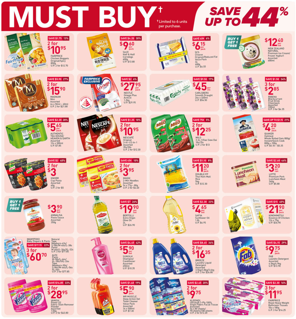 NTUC FairPrice Singapore Your Weekly Saver Promotions 1-7 Jul 2021   Why Not Deals