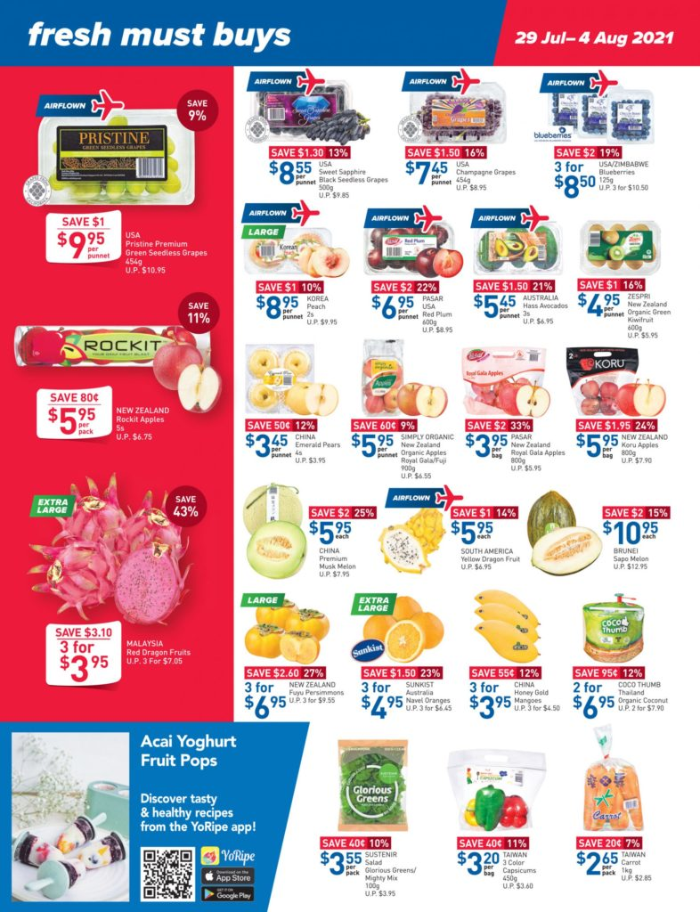 NTUC FairPrice Singapore Your Weekly Saver Promotions 29 Jul - 4 Aug 2021   Why Not Deals 9