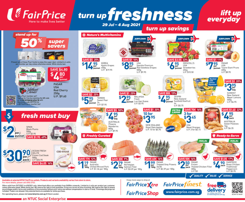 NTUC FairPrice Singapore Your Weekly Saver Promotions 29 Jul - 4 Aug 2021   Why Not Deals 7