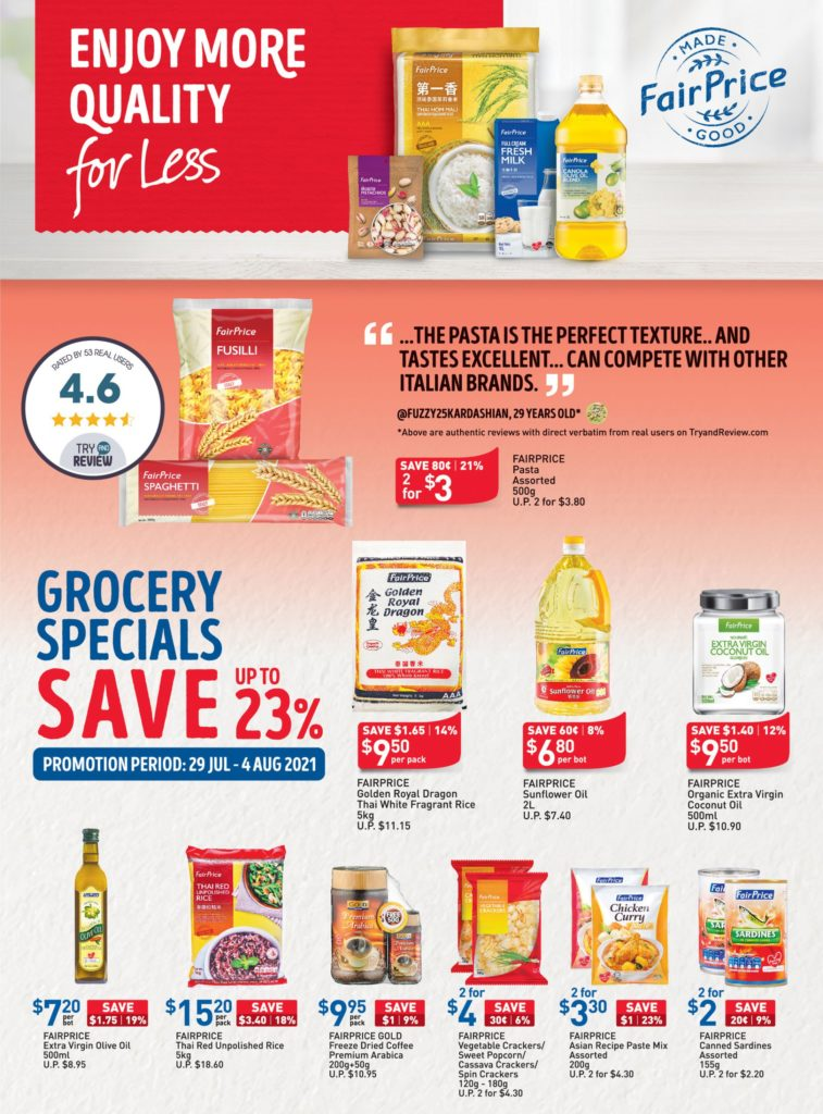 NTUC FairPrice Singapore Your Weekly Saver Promotions 29 Jul - 4 Aug 2021   Why Not Deals 8