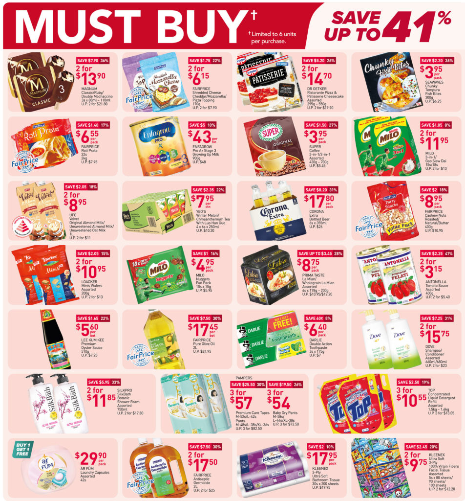 NTUC FairPrice Singapore Your Weekly Saver Promotions 29 Jul - 4 Aug 2021   Why Not Deals