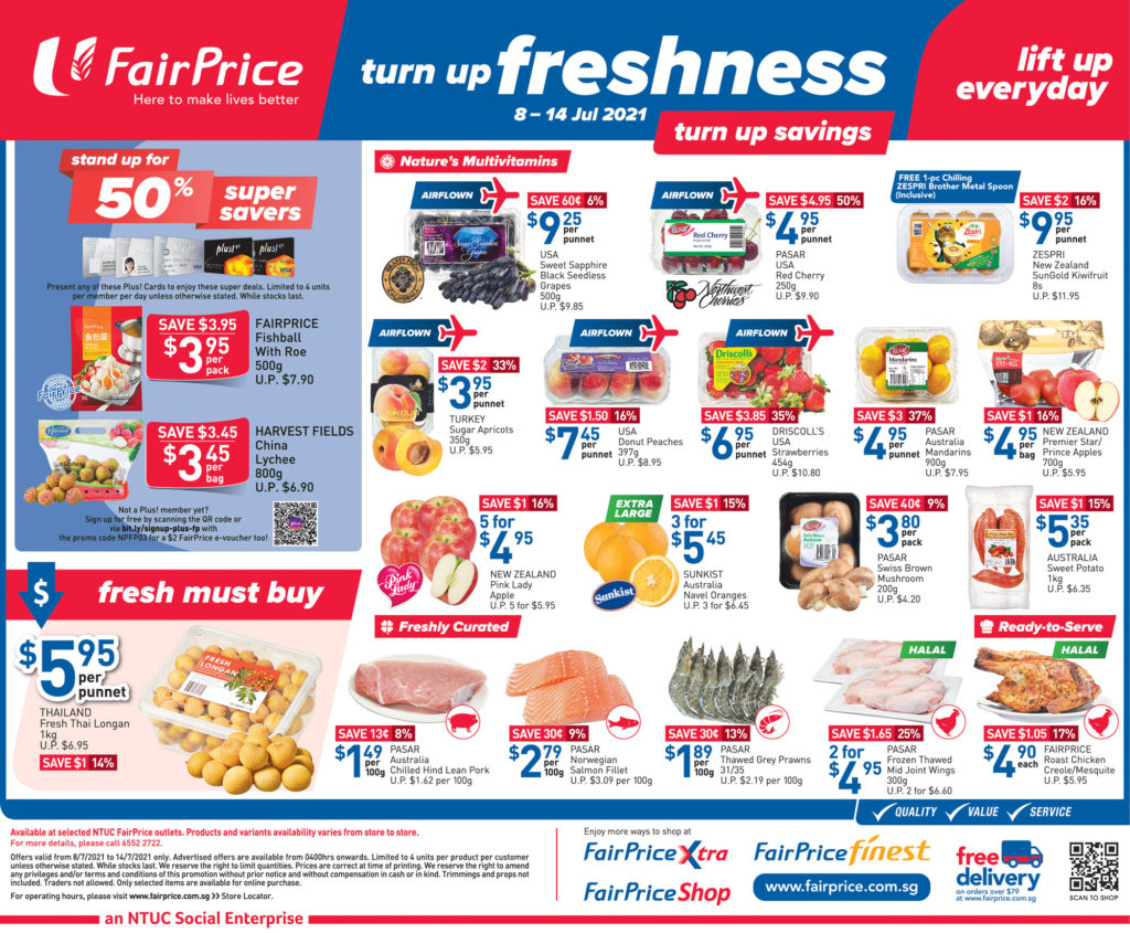 NTUC FairPrice Singapore Your Weekly Saver Promotions 8-14 Jul 2021 | Why Not Deals 7