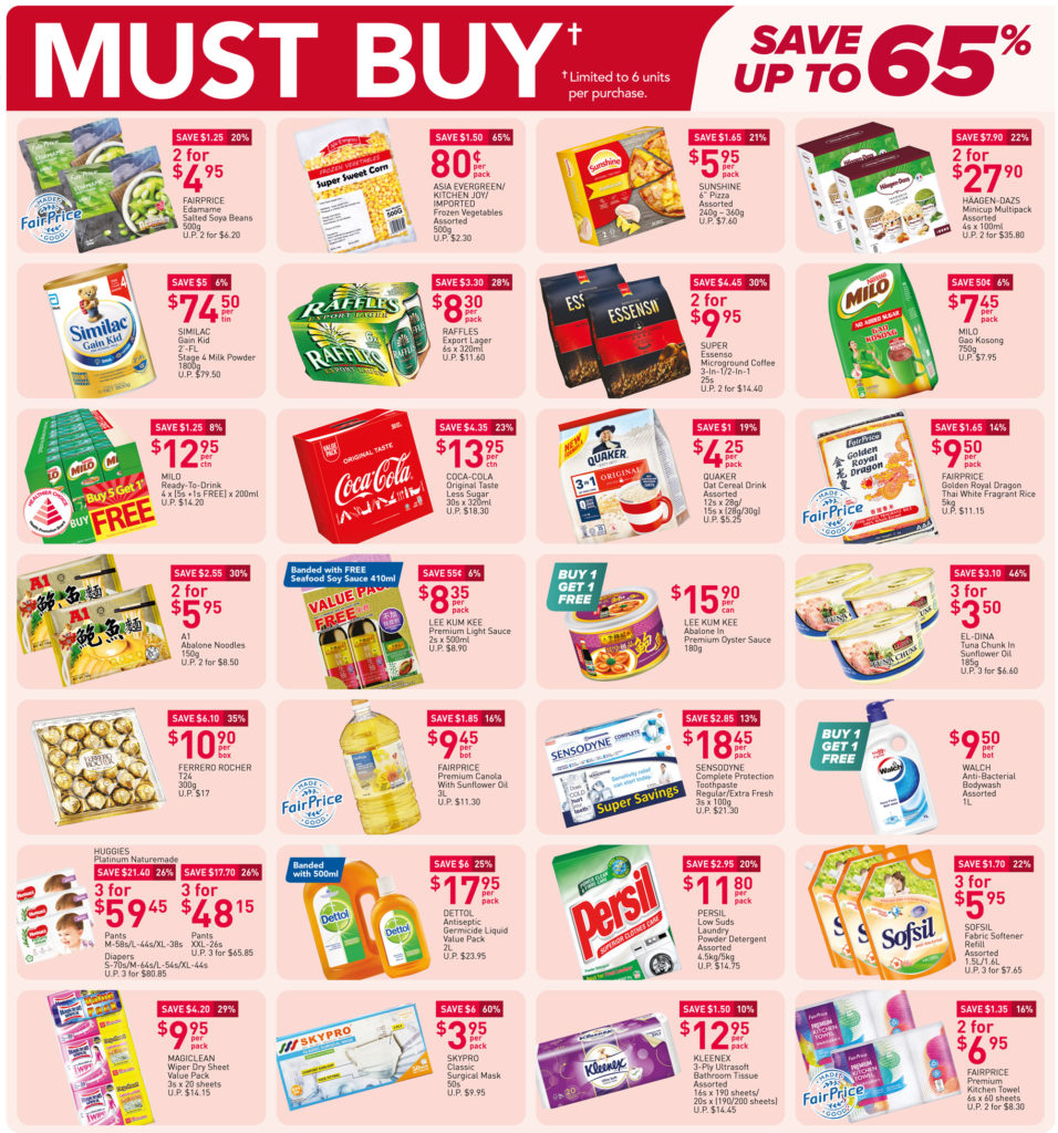 NTUC FairPrice Singapore Your Weekly Saver Promotions 8-14 Jul 2021 | Why Not Deals