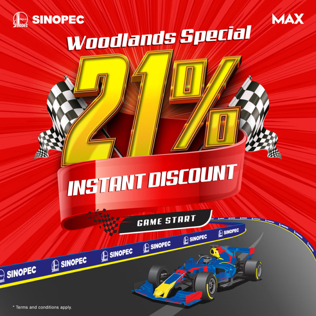 Sinopec Singapore 21% Woodlands Opening Special Promotion Extended 2-31 Jul 2021 | Why Not Deals