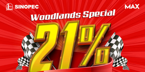 Sinopec Singapore 21% Woodlands Opening Special Promotion Extended 2-31 Jul 2021