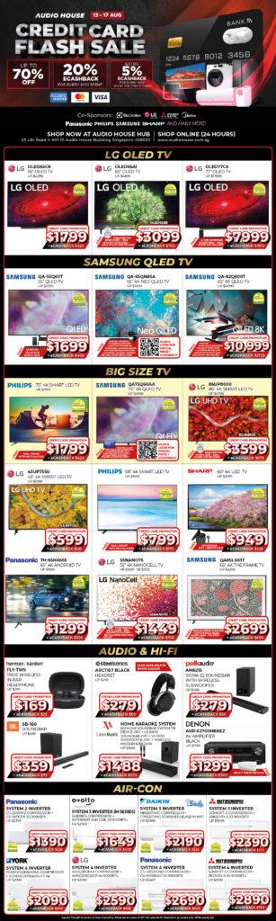 [Audio House Credit Card Flash Sale] Get 20% eCashback* + Extra 5% eCashback* Spent Via Credit Card | Why Not Deals 1