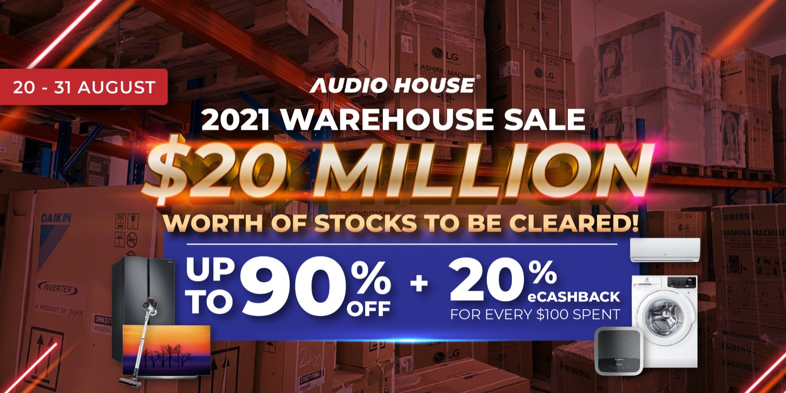 More than $20 million worth of Stocks to be Cleared at Audio House 2021 Warehouse Sale!