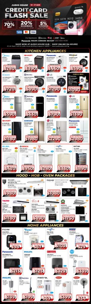 [Audio House Credit Card Flash Sale] Get 20% eCashback* + Extra 5% eCashback* Spent Via Credit Card | Why Not Deals