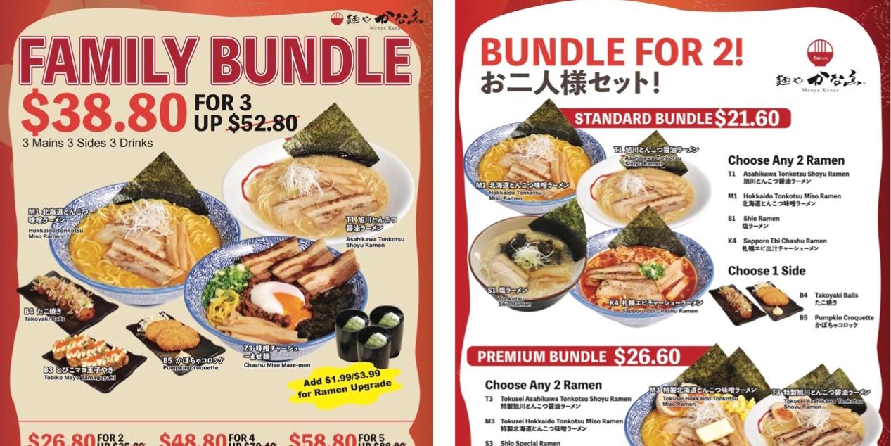Japanese Ramen Bar, Menya Kanae Family Meals From $21.60 (While Stocks Last)