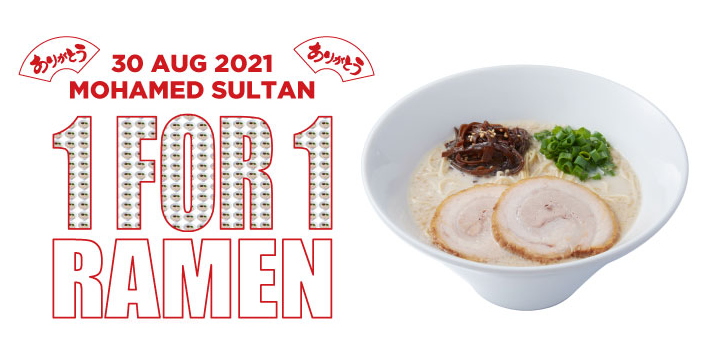 IPPUDO Mohamed Sultan Celebrates 11th Anniversary: 1-For-1 Ramen ALL Day on 30 August 2021!