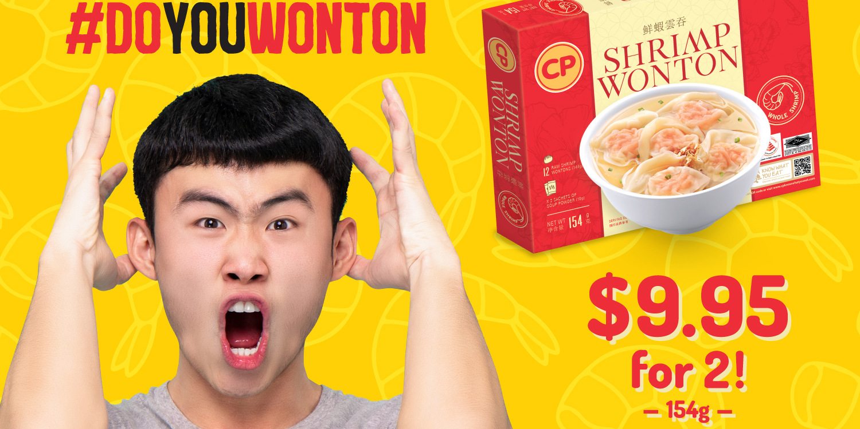 Get 2 CP Shrimp Wonton Boxes at just S$9.95