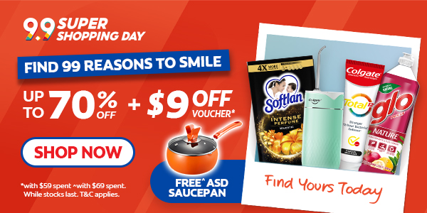 Colgate Find 99 Reasons to Smile this 9.9! Save up to 70% in store + Extra $9 voucher* + Free Gifts!