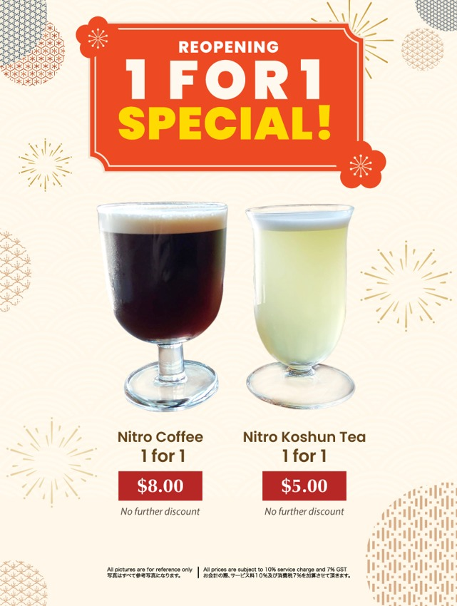 1-FOR-1 Nitro Brews at SUN with MOON Contemporary Japanese Dining & Cafe (Until 16 Sep 2021)   Why Not Deals