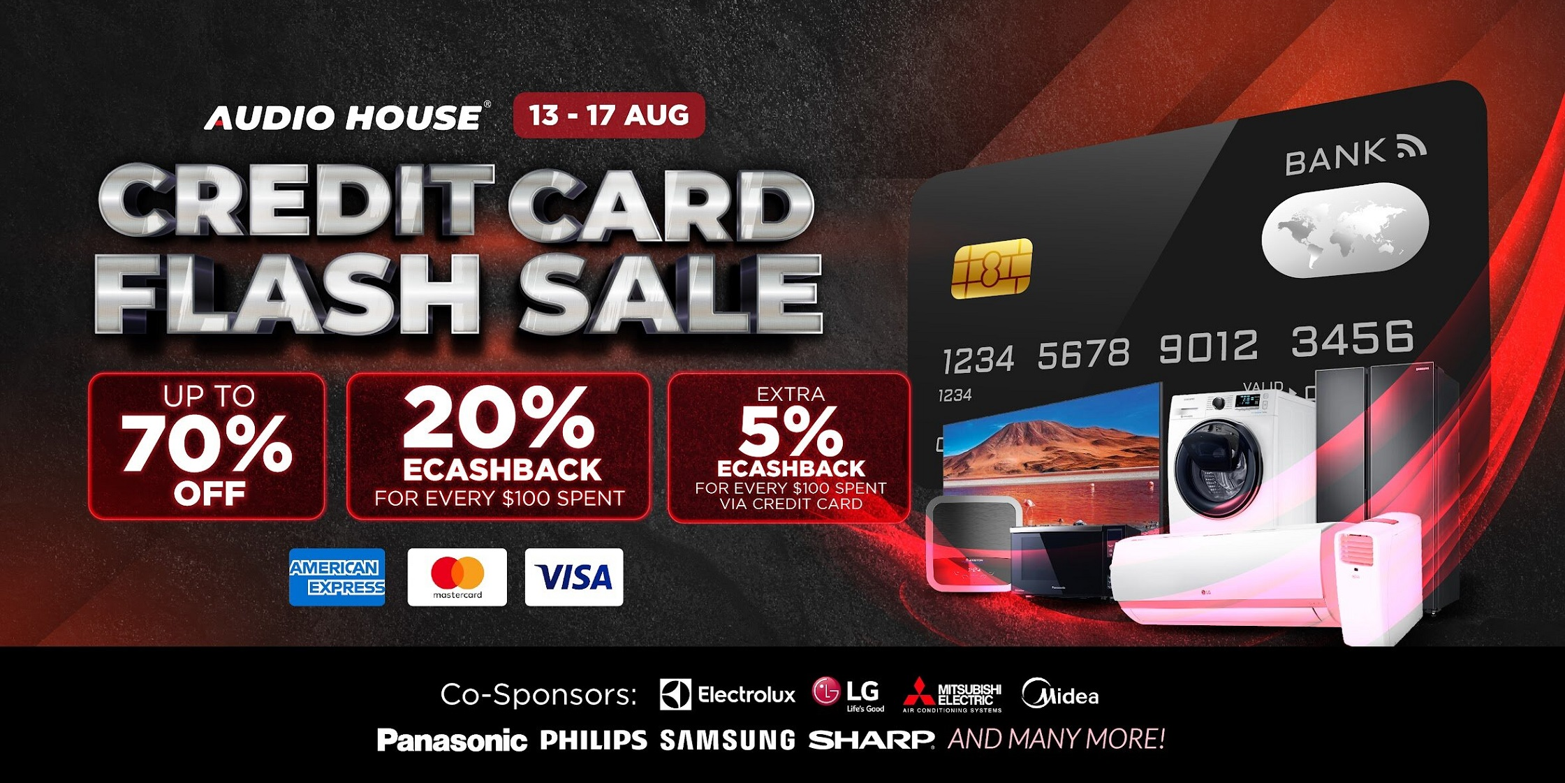 [Audio House Credit Card Flash Sale] Get 20% eCashback* + Extra 5% eCashback* Spent Via Credit Card