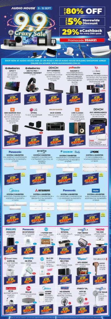 Audio House 9.9 Crazy Sale - Get Extra 5% Storewide + 29% eCashback for Every $100 Spent! | Why Not Deals 2