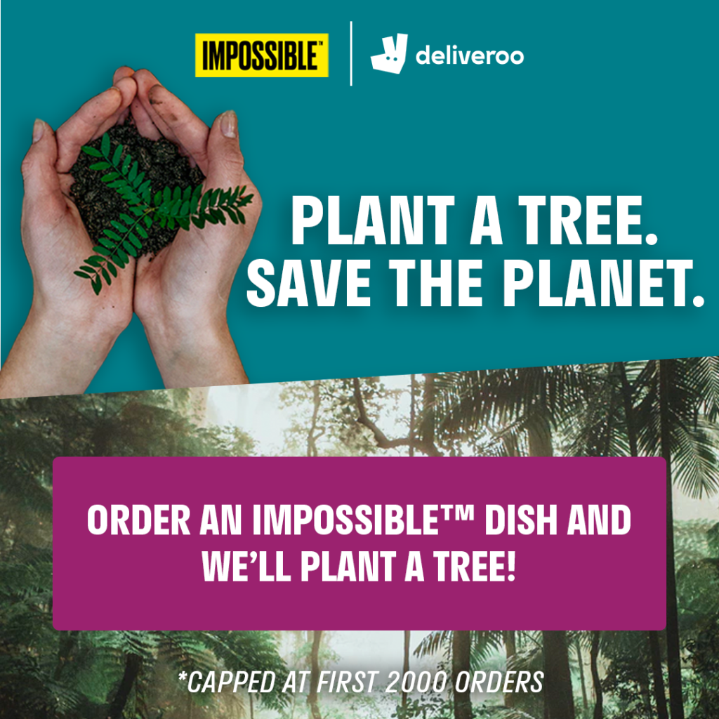 Deliveroo & Impossible Foods team up to plant trees at the Amazon rainforest | Why Not Deals