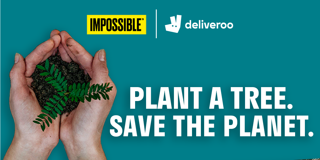 Deliveroo & Impossible Foods team up to plant trees at the Amazon rainforest