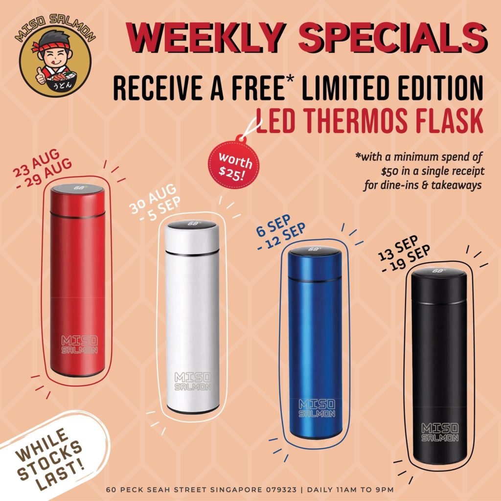 Buy 1 get 1 free beer, enjoy up to 28% off sides & receive a Free Limited Edition LED Thermos Flask! | Why Not Deals 1