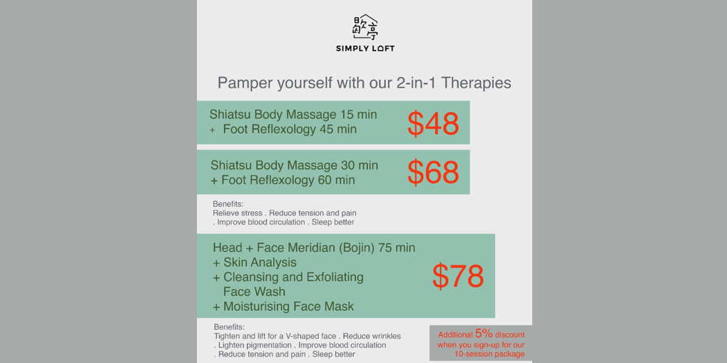 Pamper yourself with Simply Loft's 2-in-1 Therapies