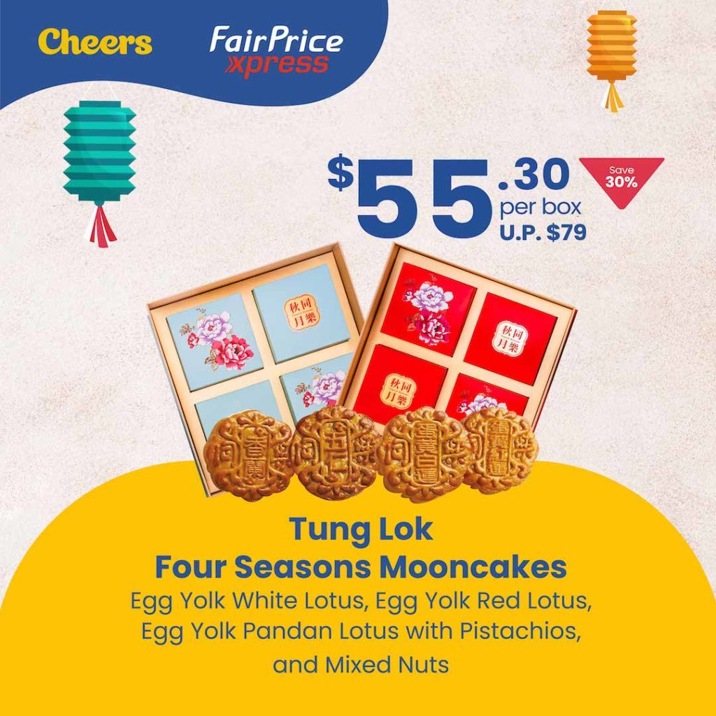 4 DAYS ONLY! Anniversary Special Mooncake Promotion at Cheers and FairPrice Xpress   Why Not Deals