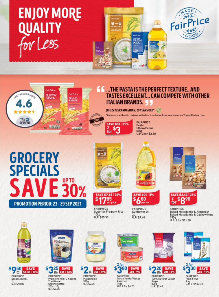 NTUC FairPrice Singapore Your Weekly Saver Promotions 23-29 Sep 2021 | Why Not Deals 10