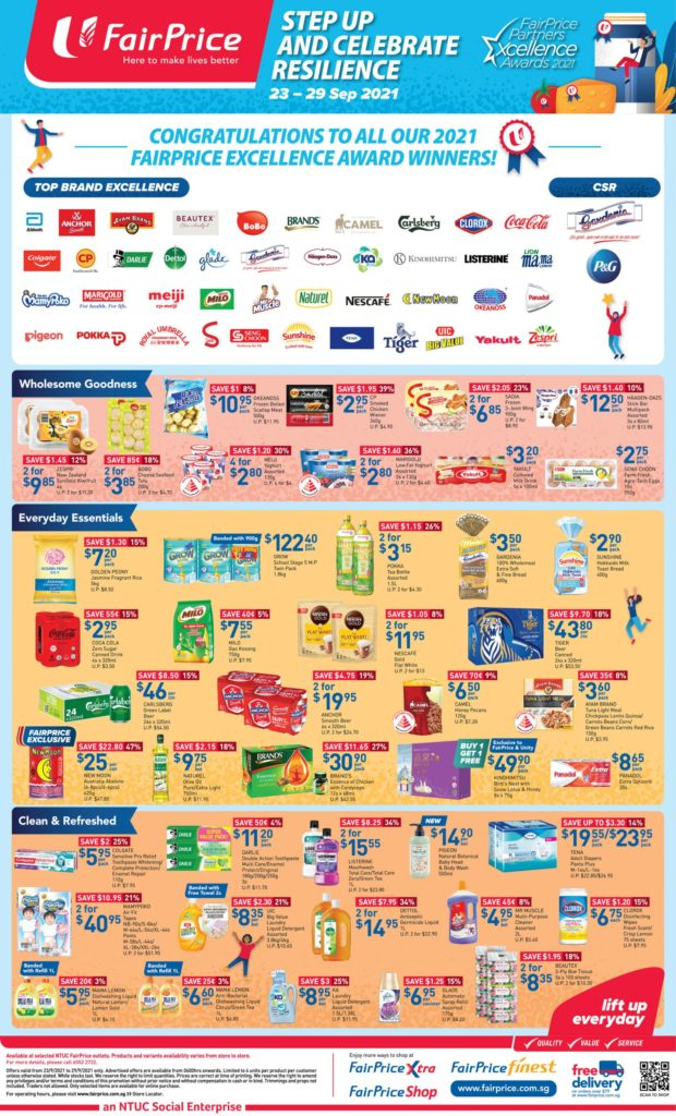 NTUC FairPrice Singapore Your Weekly Saver Promotions 23-29 Sep 2021 | Why Not Deals 11