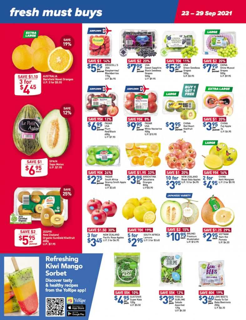 NTUC FairPrice Singapore Your Weekly Saver Promotions 23-29 Sep 2021 | Why Not Deals 12