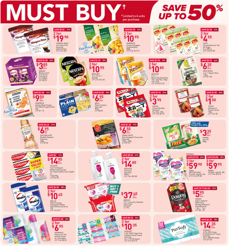 NTUC FairPrice Singapore Your Weekly Saver Promotions 23-29 Sep 2021 | Why Not Deals