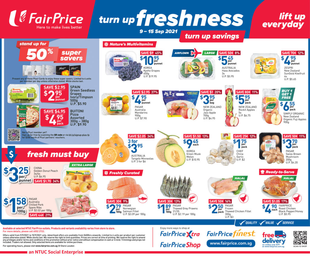 NTUC FairPrice Singapore Your Weekly Saver Promotions 9-15 Sep 2021 | Why Not Deals 9