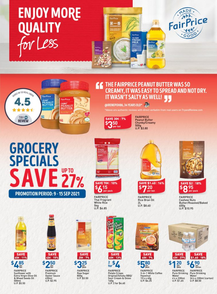 NTUC FairPrice Singapore Your Weekly Saver Promotions 9-15 Sep 2021 | Why Not Deals 10
