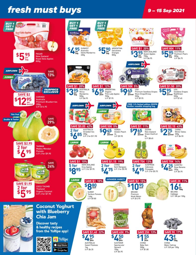 NTUC FairPrice Singapore Your Weekly Saver Promotions 9-15 Sep 2021 | Why Not Deals 11