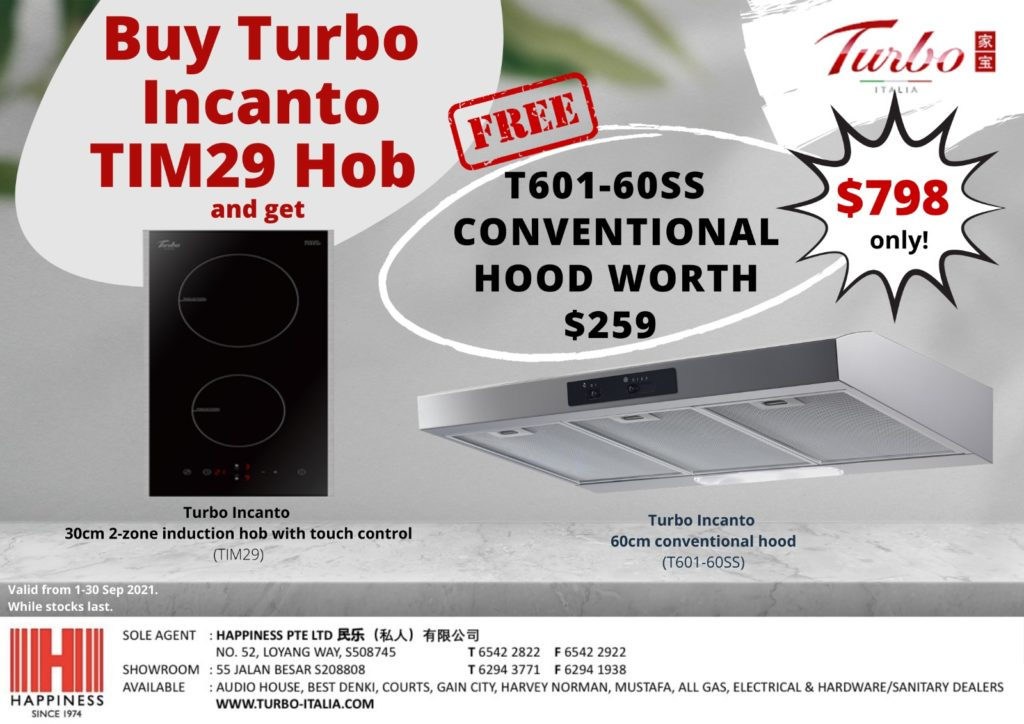 [Turbo Hob and Hood Promo] FREE Turbo Incanto T601-60SS Conventional Hood Worth $259 (T&Cs apply)! | Why Not Deals