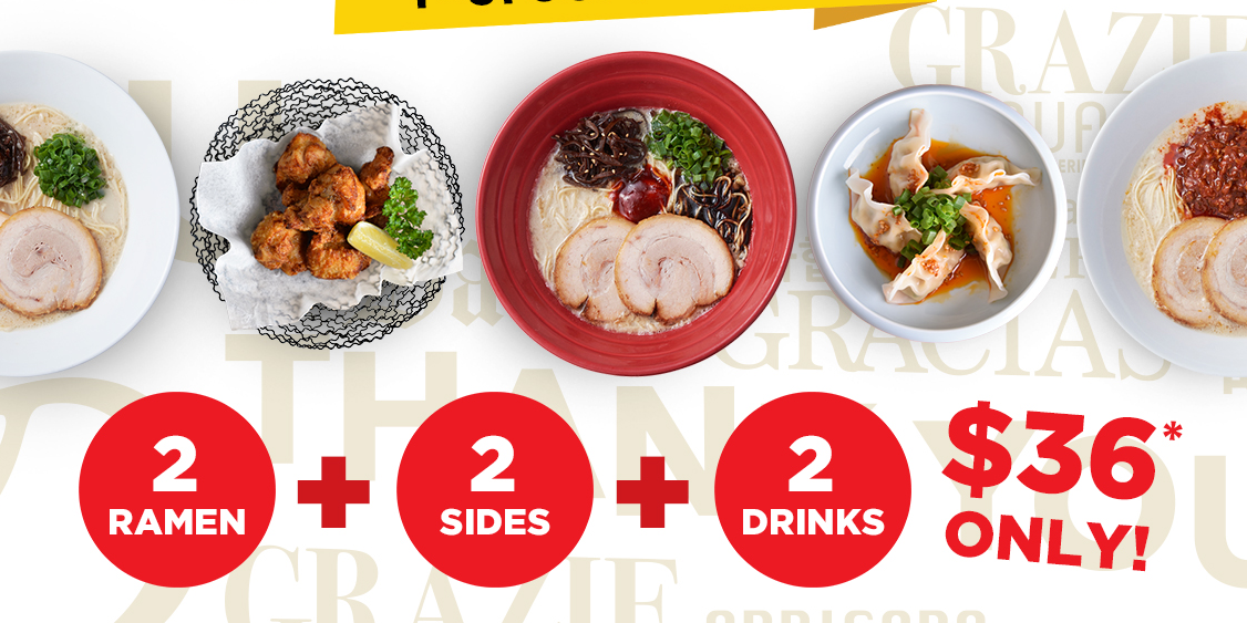 IPPUDO Singapore Offers $36 Set Meal for Two (U.P.$56) in Celebration of Its 36th Global Anniversary