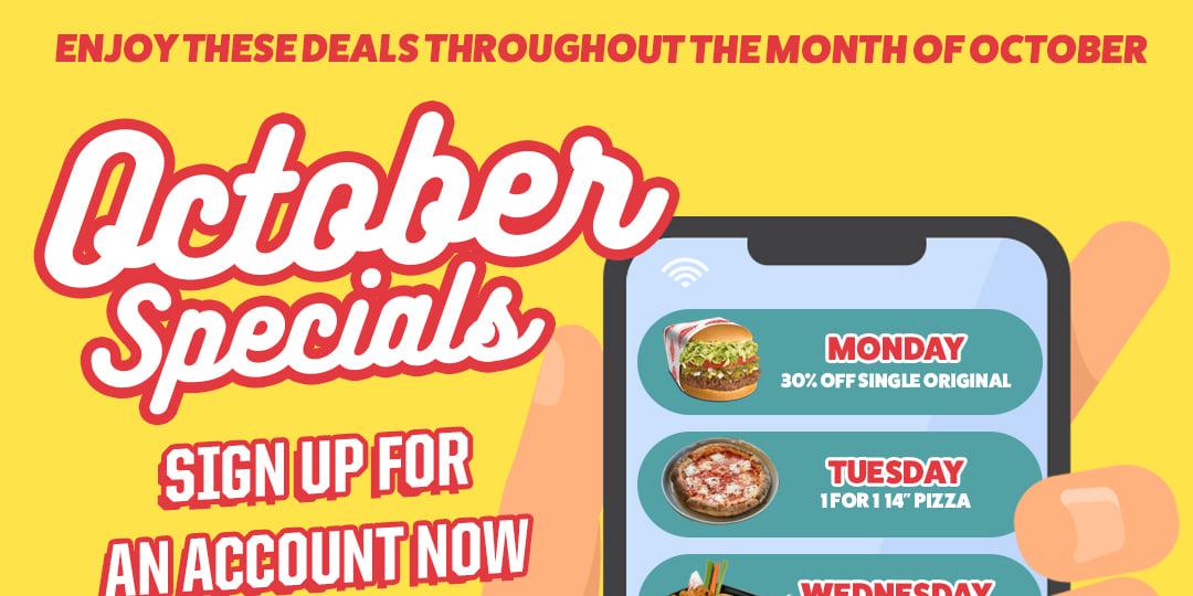 October just got better with Deelish Brands' crazy month long 1-1 and 50% deals!