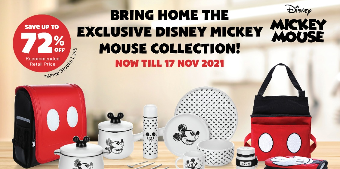Double Bonus Points to Redeem Disney x FairPrice Exclusive Mickey Mouse Collection From $11.90 Only!