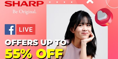 [SHARP FB LIVE] Enjoy Up to 55% OFF Selected Lifestyle Products on Sharp Facebook Live Today!
