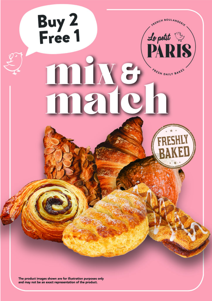Exclusive 1-for-1 deals for selected Premium Meat + Buy 2 Get 1 Free for Freshly-baked Pastries! | Why Not Deals 1
