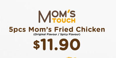 [Delivery Exclusive] 5pc Mom's Fried Chicken @ $11.90 (U.P.$19.00)