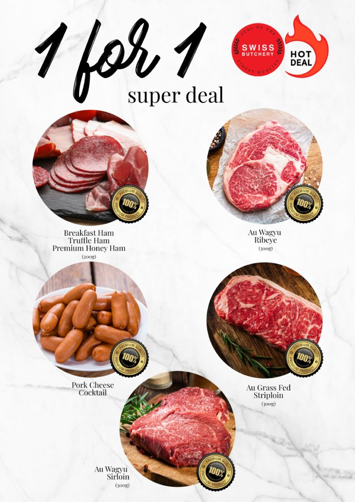 Exclusive 1-for-1 deals for selected Premium Meat + Buy 2 Get 1 Free for Freshly-baked Pastries! | Why Not Deals
