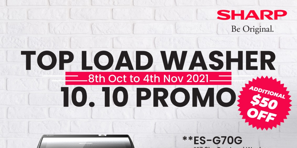 [Promotion] SHARP Is Having A 10.10 Promo On Their Top Load Washers!