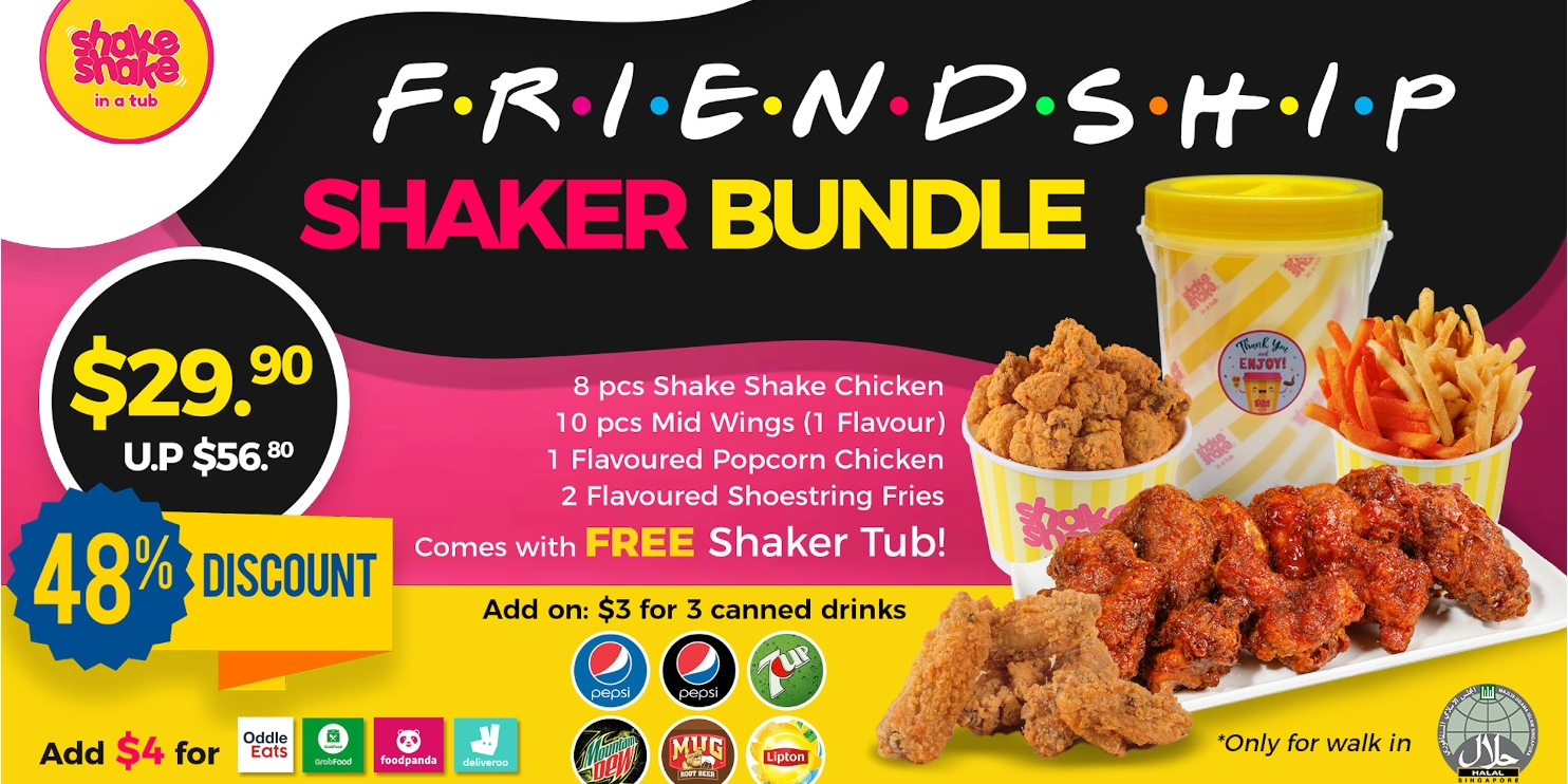 Shake Shake In A Tub Launches New Fried Chicken Bundle for $29.90 (48% Off U.P!)