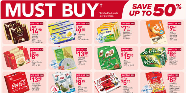 NTUC FairPrice Singapore Your Weekly Saver Promotions 30 Sep – 6 Oct 2021