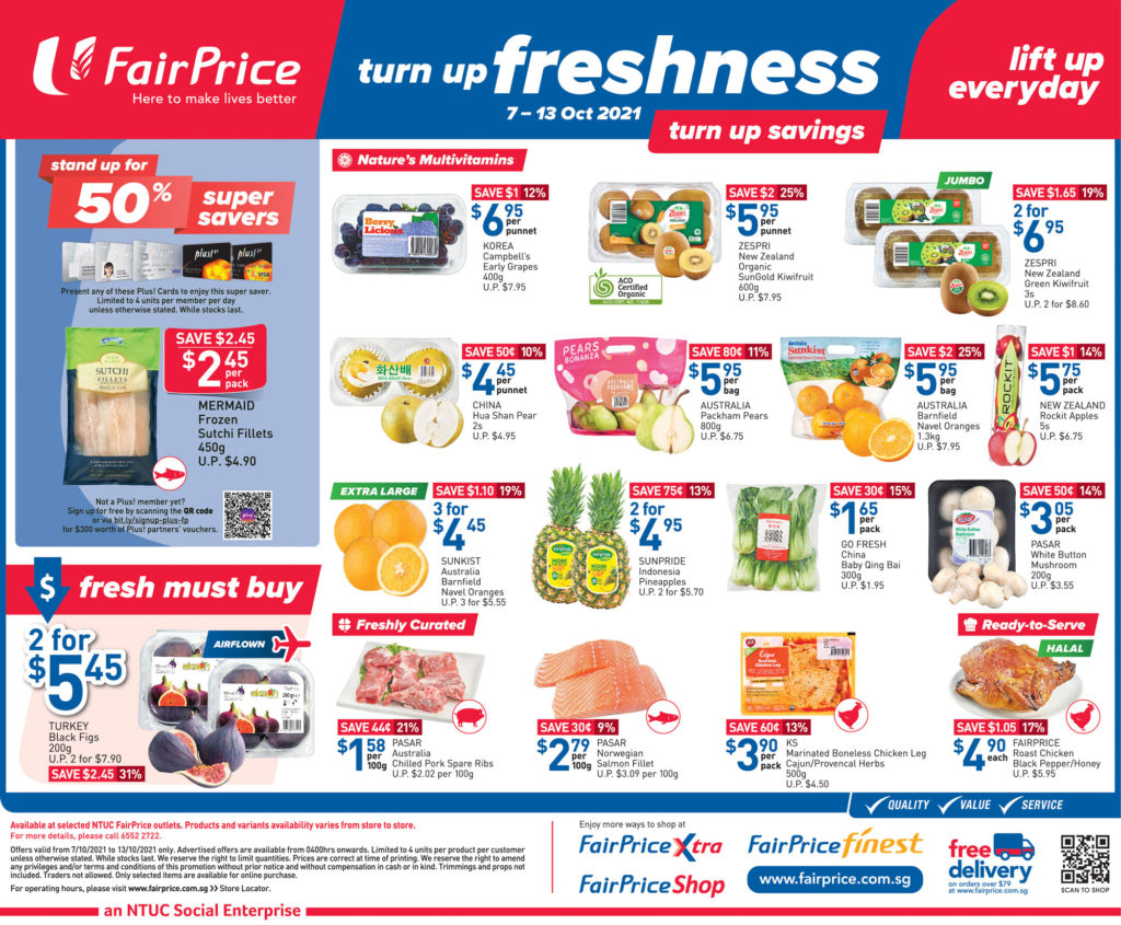 NTUC FairPrice Singapore Your Weekly Saver Promotions 7-13 Oct 2021 | Why Not Deals 9