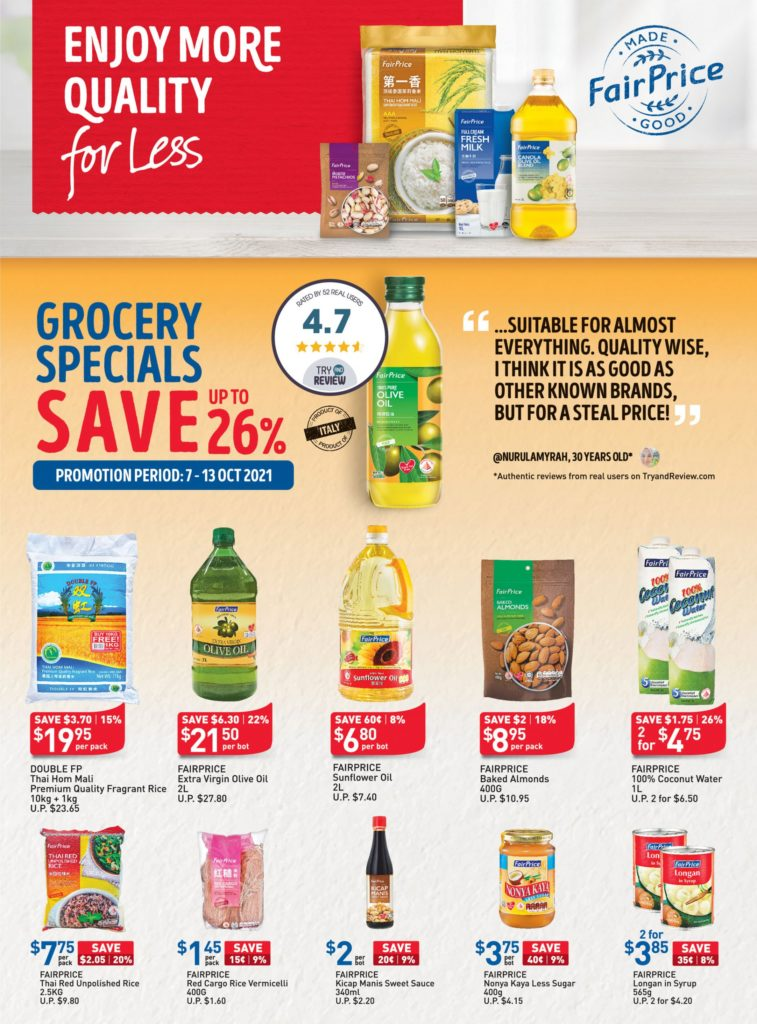 NTUC FairPrice Singapore Your Weekly Saver Promotions 7-13 Oct 2021 | Why Not Deals 11